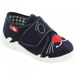 Pantofi, Albastru Alb, inchidere velcro, marca RenBut