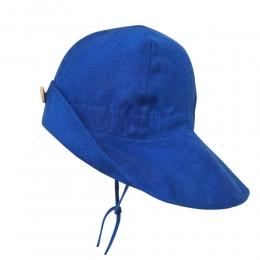 Palarie ajustabila din in organic Royal Blue