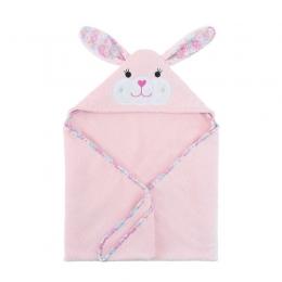 Prosop de baie cu gluga, Zoocchini, 70x70cm, Happy Bunny