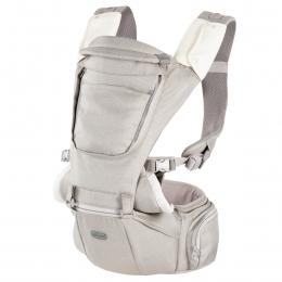 Marsupiu ergonomic multifunctional Chicco Hip Seat cu suport pentru sold, HazelWood (Crem). luni+