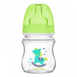 "Biberon anticolici gat larg, Canpol babies, polipropilena, 120 ml, ""Toys"", verde"