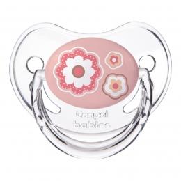"Suzeta ""Newborn Baby"" cu tetina ortodontica silicon, Canpol babies, fara BPA, 18 luni+, roz"