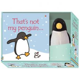 Usborne That's not my penguin - pachet cu carticica si jucarie