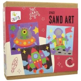 Coloreaza cu nisip-jucarie de creatie