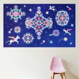 Joc creativ cu stickere Constelatie cu unicorni, POPPIK