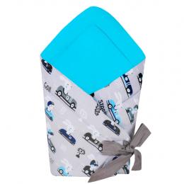 Port bebe textil transformabil in salteluta de joaca, Cars