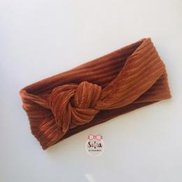 Taisia Cognac Bow Bentita maro coniac din bumbac jersey