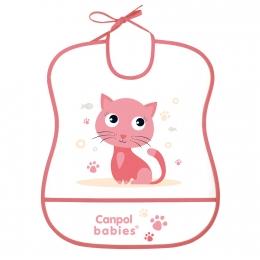 "Baveta ""Cute Animals"", Canpol babies, fara BPA, roz"