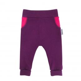 Pantaloni cu buzunare din lana merinos extrafina Plum