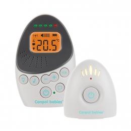 "Sistem bidirectional de monitorizare audio bebelusi, ""EasyStart Plus"", Canpol babies, alb/gri"