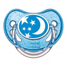 "Suzeta ""Nature"" cu tetina ortodontica silicon, Canpol babies, fara BPA, 6-18 luni, albastru"