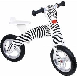 Bicicleta de echilibru din lemn, design Zebra
