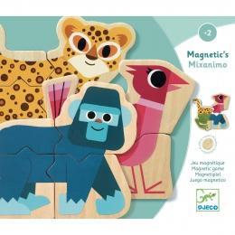 Puzzle cu magneti Djeco Mixanimo