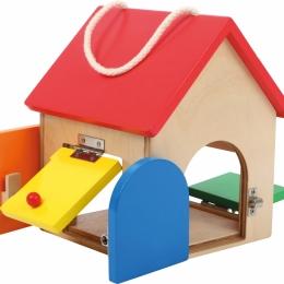 Casuta mica cu incuietori Montessori