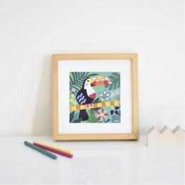 Joc creativ cu stickere Animale tropicale, POPPIK