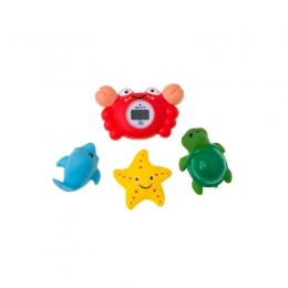 Termometru de baie digital Crab cu 3 jucarii de baie Rotho babydesign