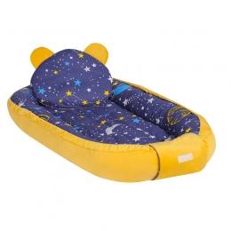 Baby Nest Multifunctional cu doua tipuri de material, Velur Universe