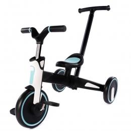 Tricicleta Uonibaby 4 in1, Pliabila si cu maner de impingere - Blue