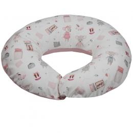 Perna pentru Alaptare, EKO, 100% Bumbac, 60X60cm, Pink Mouse