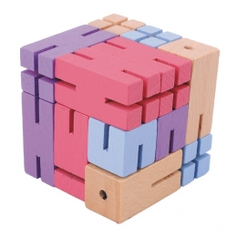 Joc logic 3D puzzle Figurina violet