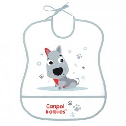 """Baveta """"Cute Animals"""", Canpol babies, fara BPA, gri"""