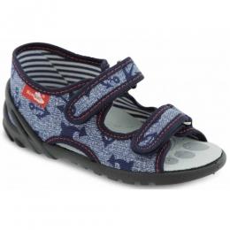 Sandale Baieti, Albastru, marca RenBut, inchidere velcro