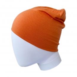 Caciula subtire dublata din lana merinos Orange