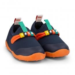 Pantofi Baieti Bibi FisioFlex 4.0 Naval/Orange