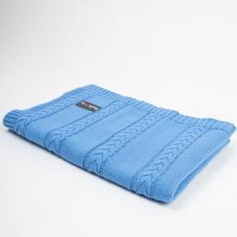 Paturica tricotata pentru bebelusi 90x65 cm, Blue