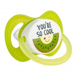 "Suzeta ""So Cool"" cu tetina simetrica silicon, fara BPA, 0-6 luni"