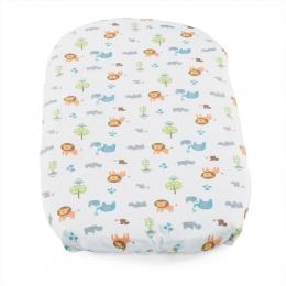 Set 2 buc cearsaf pentru Chicco Baby Hug, Little Animals, 0 luni+