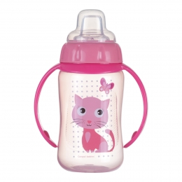 "Canita antrenament ""Cute Animals"", Canpol babies, 320 ml, roz"
