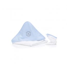 Prosop brodat cu manusa bebelus Print blue Fillikid