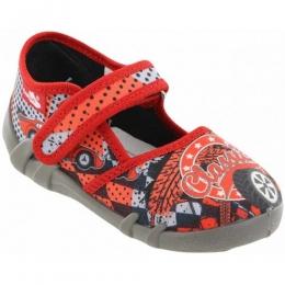 Sandale Baieti, Rosu, inchidere velcro, marca RenBut