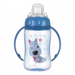 "Canita antrenament ""Cute Animals"", Canpol babies, 320 ml, albastru"