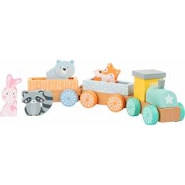 Trenuletul animalelor in culori pastelate