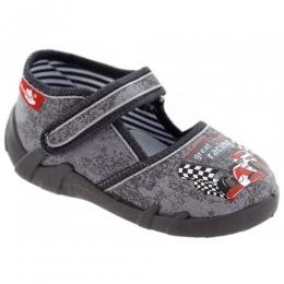 Sandale Baieti, Gri, inchidere velcro, marca RenBut