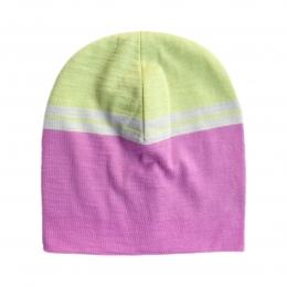 Caciula subtire dublata din lana merinos Pink Lemonade