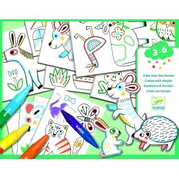 Atelier creativ Djeco, Animale