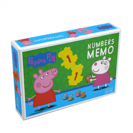 Memo cu numere Peppa Pig