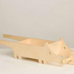 Roaba-Lup:  Roaba din lemn pentru copii