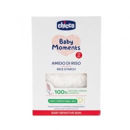 Amidon dermatologic din orez pentru baie Chicco Baby Moments Sensitive, 150g, 0 luni+