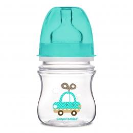 """Biberon anticolici gat larg, Canpol babies, polipropilena, 120 ml, """"Toys"""", bleu"""