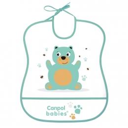 "Baveta ""Cute Animals"", Canpol babies, fara BPA, turcoaz"