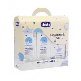 Baby Moments set 03206 ( sampon 200ml , spuma baie 200 , apa colonie 100 ml)