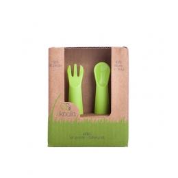 Set lingurita si furculita, eKoala, BIOplastic, Green