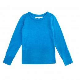 Bluza din lana merinos si matase Turquoise