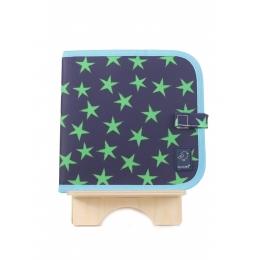 Carte refolosibila pentru desen Blue & Green Stars - Doodle It & Go erasable book - Blue & Green Stars - Jaq Jaq Bird