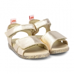 Sandale Fete BIBI Baby Soft Gold Velcro