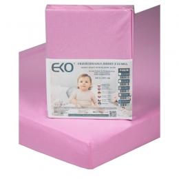 Cearsaf din Jersey cu Elastic, EKO, 120x60 cm, Pink